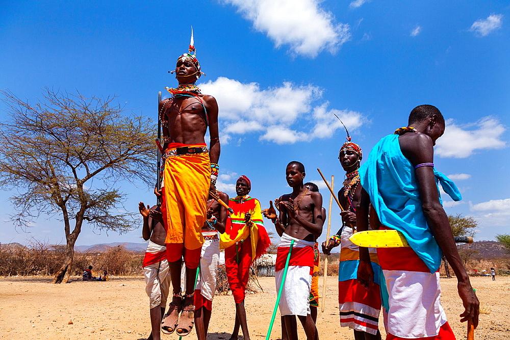 Samburu people, Samburu National Park, Kenya, Africa.