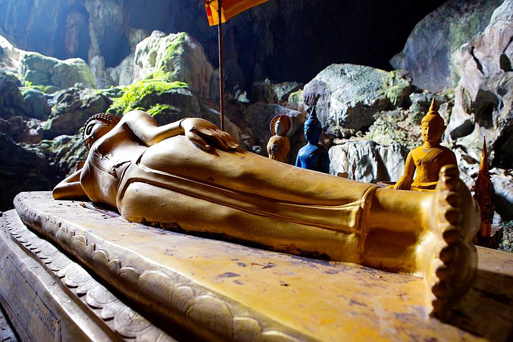 Tham Phu Kham Cave in Vang Vieng, Laos.