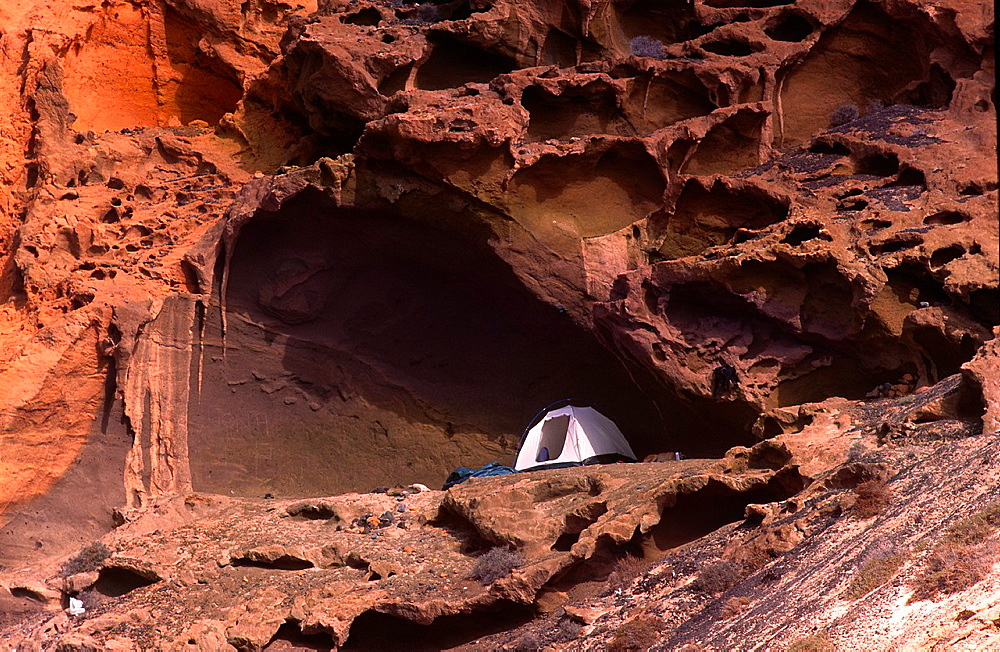Camping on a volcano, Canary Islands.