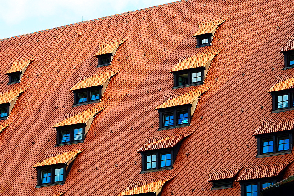 Eyelid Windows on Nuremberg Castle Nurnberg Germany Deutschland DE.