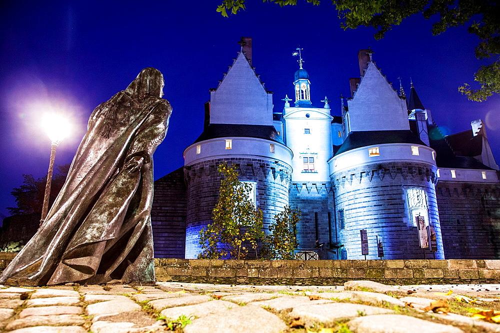 Chateau des Ducs de Bretagne, fortress, castle, museum, Nantes, Pays de la Loire, France, Europe.