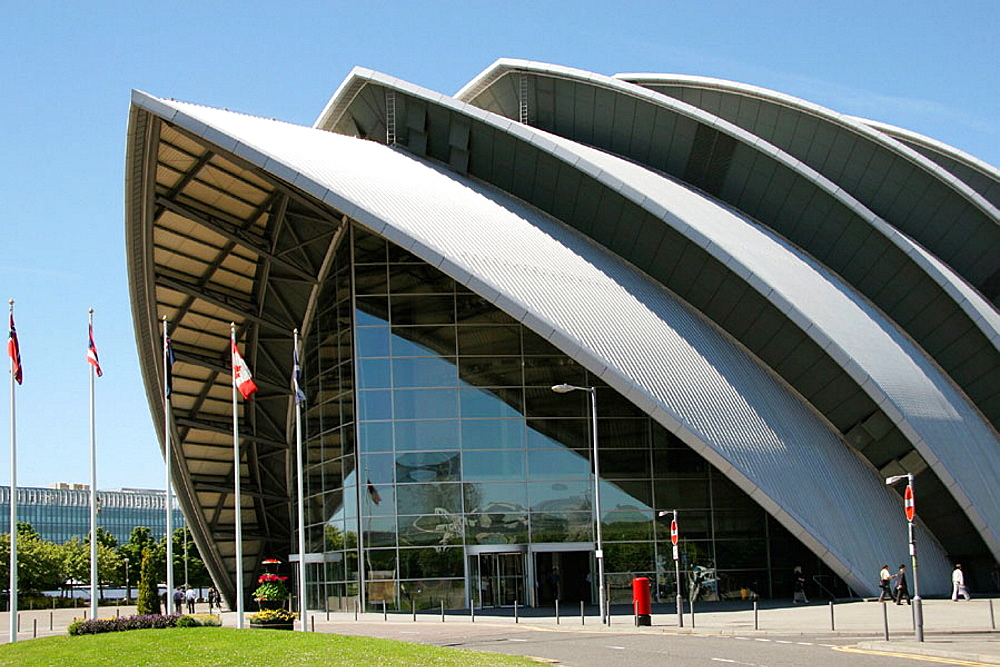 Clyde Auditorium, Scottish Exhibition and Conference Centre (SECC) Glasgow, Scotland. UK.