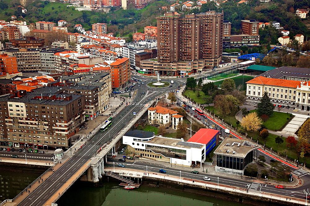 Deusto bridge and district.