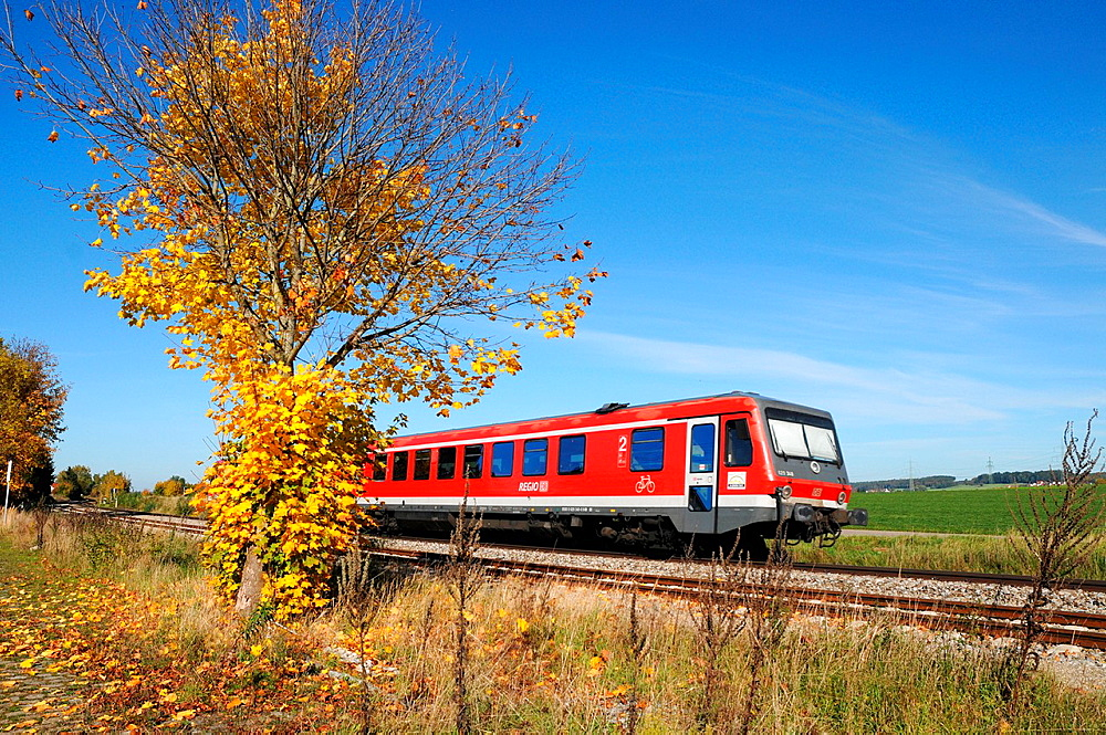 Commuter train of Deutsche Bahn AG