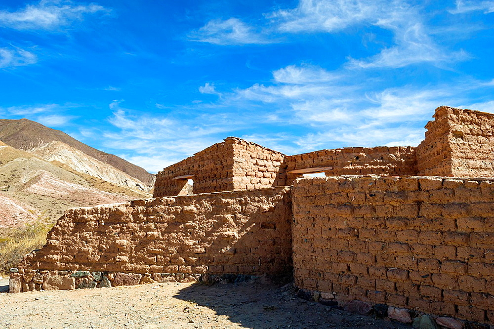 Adobe construction near Cachi, Province of Salta, Argentina.