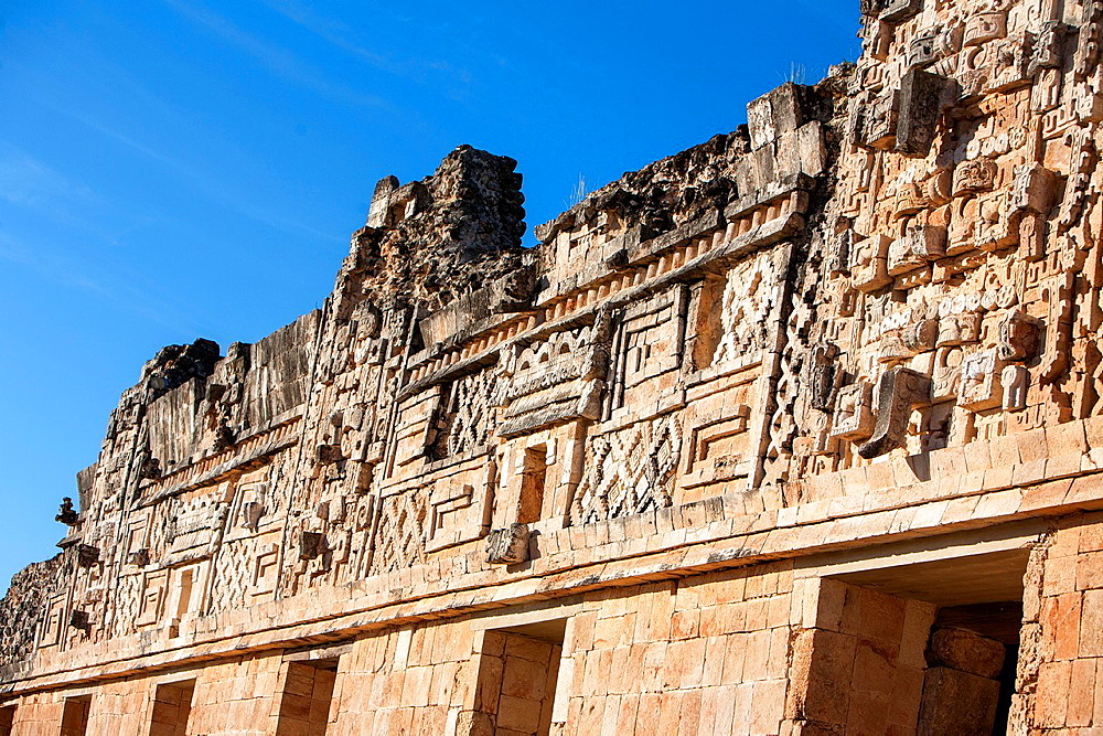 Mexico, Yucatan, Uxmal, Governor's Palace.