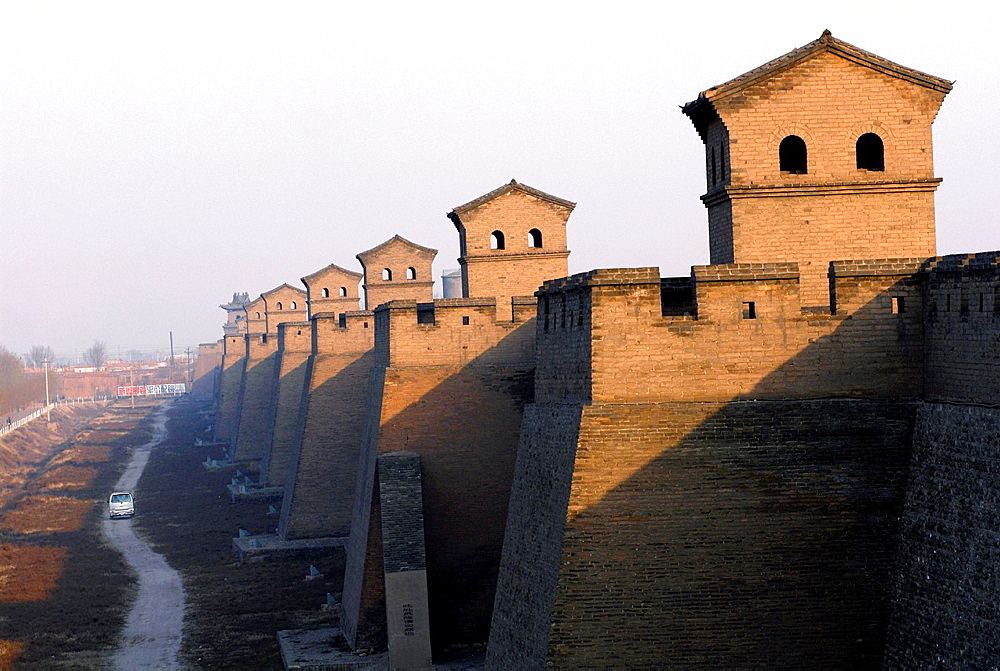 China, Shanxi, Pingyao, founded around the year 800 BC, listed as World Heritage by UNESCO, city walls, 6 km long and 10 meters high