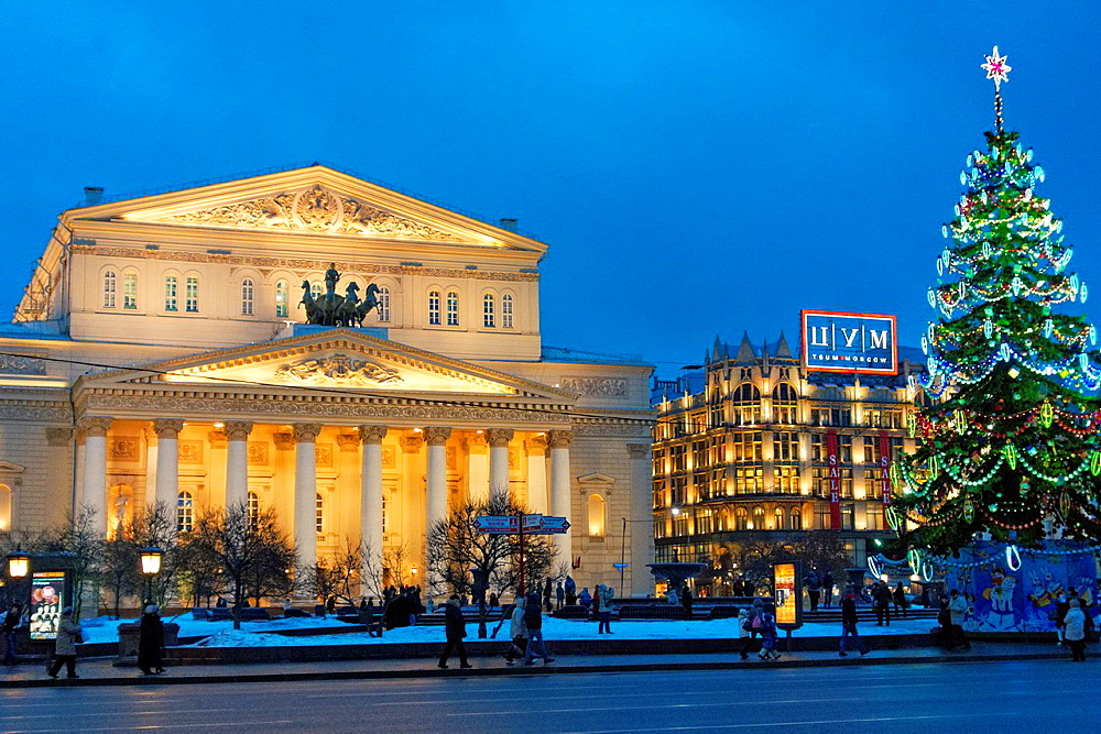 The Bolshoi Theatre  Moscow, Rusia