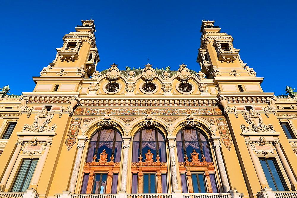 Exterior of the Salle Garnier, Opera de Monte-Carlo, Monaco.