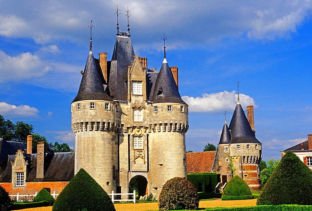 Castle of Fraze, Eure & Loir department, region Centre, France, Europe.