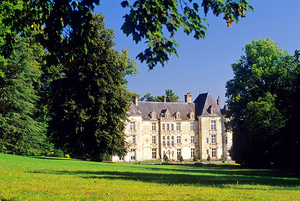 castle of Domaine de Villeray estate, commune of Condeau in the Regional Natural Park of Perche, Orne department, Lower Normandy region, France, Western Europe.