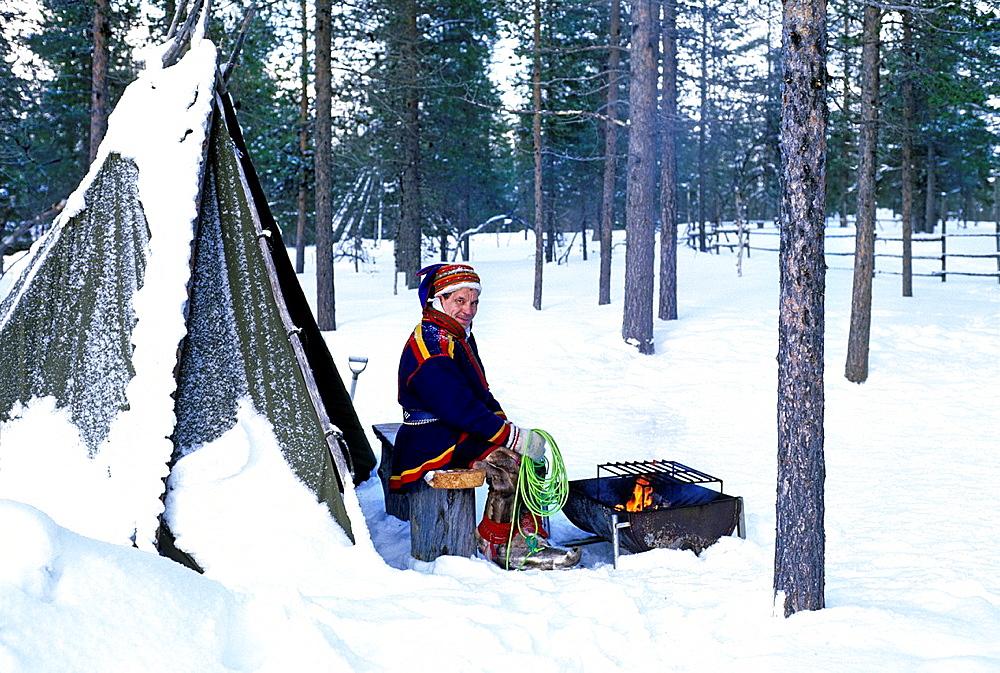 Sami around Ivalo, Lapland, Finland, Northern Europe.