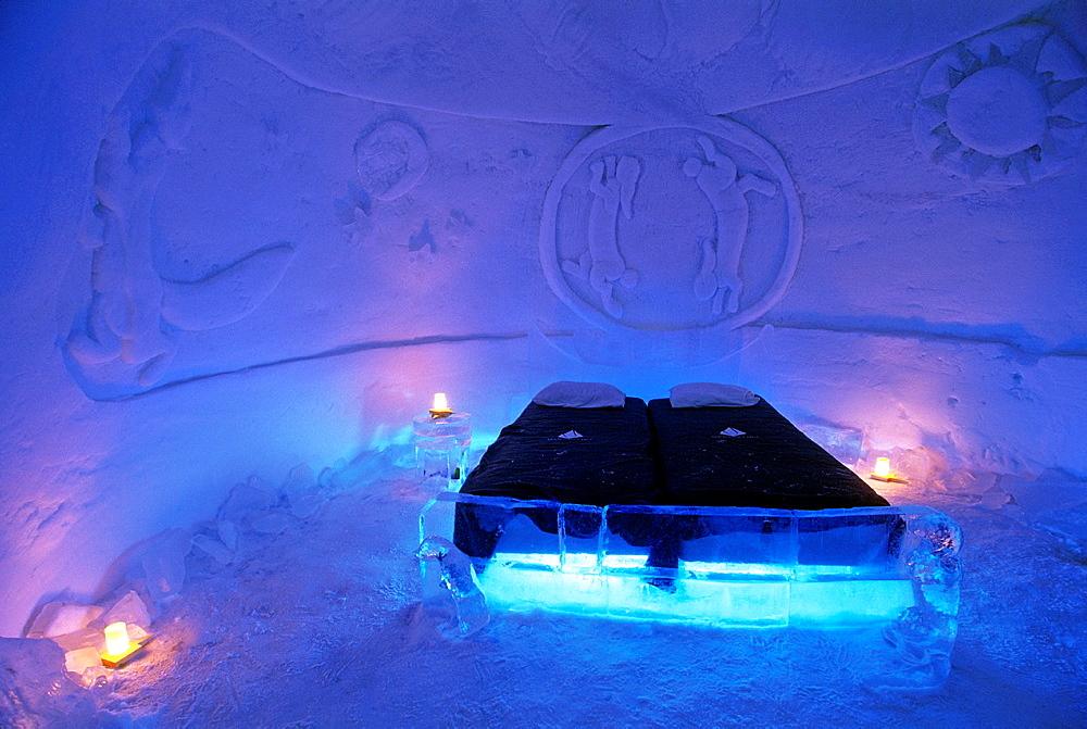 Lainio Snow Village Hotel, Lapland, Finland, Northern Europe.