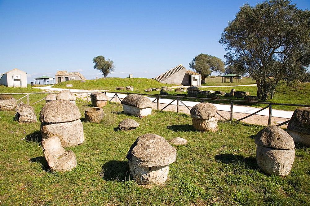 Europe, Italy, Lazio, Tarquinia, Necropolis Of Monte Calvario, Cases Of The Necropolis Of Villa Bruschi Falgari, Beginning Of The Iron Age, 1000-750 Bc