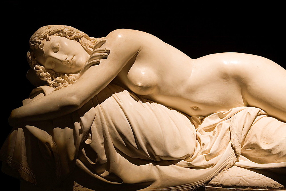 Europe, Italy, Tuscany, Siena, Santa Maria Della Scala, Sculptures By Tito Sarrocchi