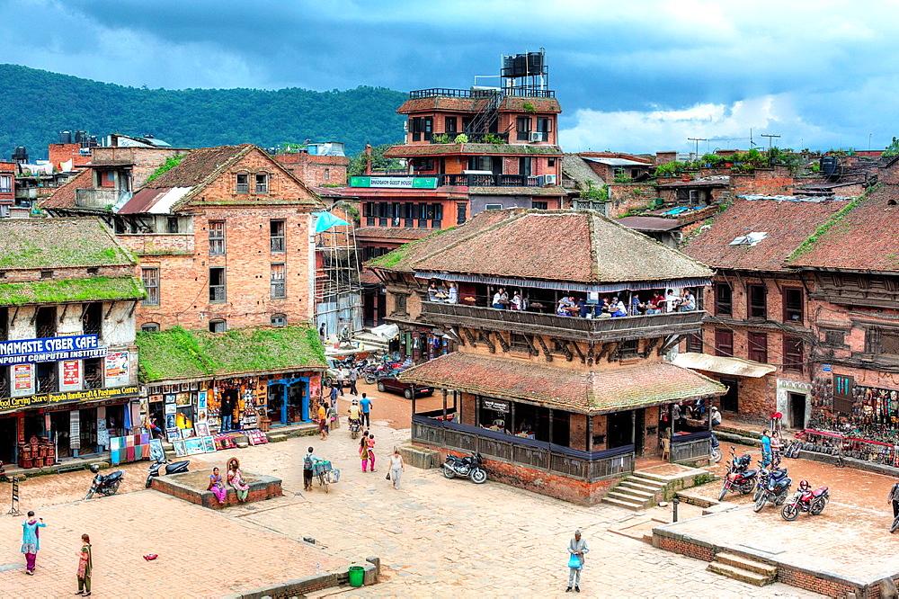 Taumadhi square, Bhaktapur, Nepal.
