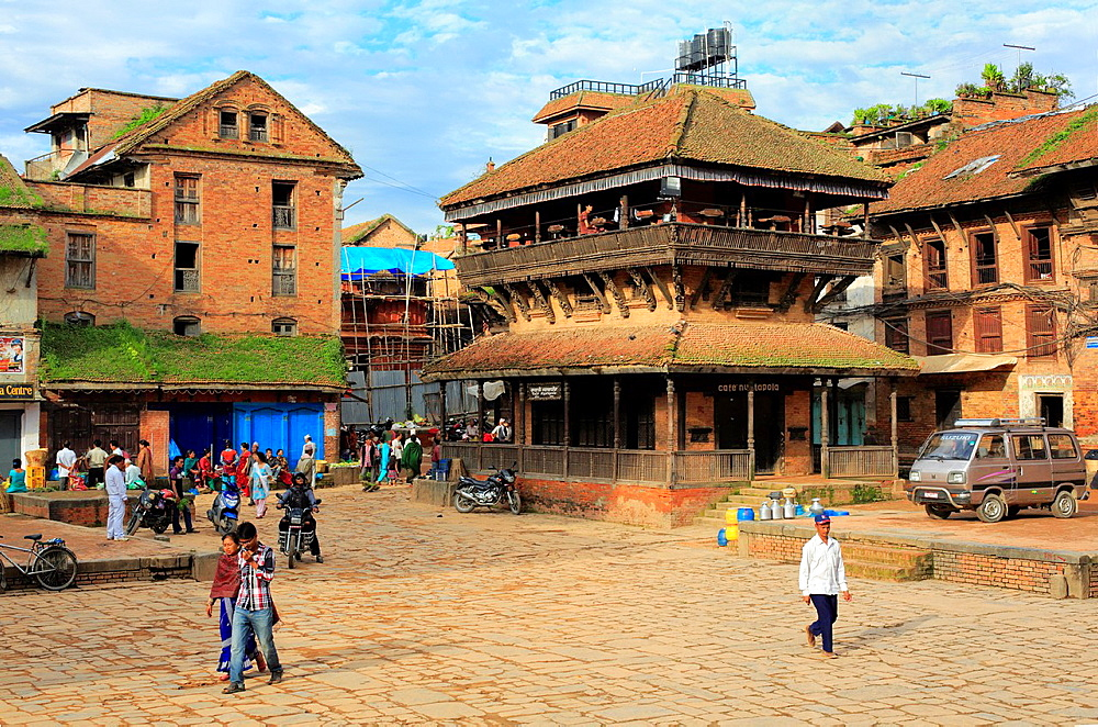 Nyatapola Restaurant, Taumadhi square, Bhaktapur, Nepal.