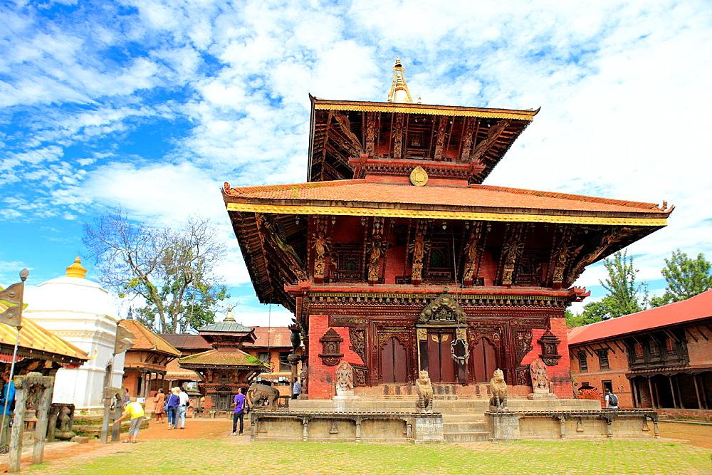 Changu Narayan temple, oldest Hindu temple in Nepal, near Bhaktapur, Nepal.
