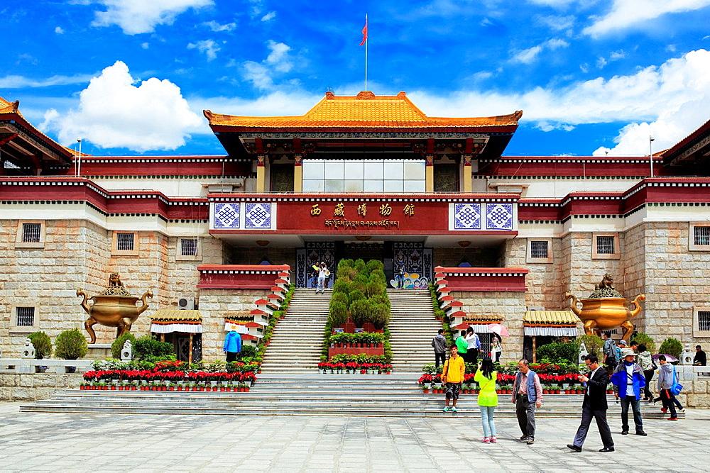 Tibetan museum, Lhasa, Tibet, China.