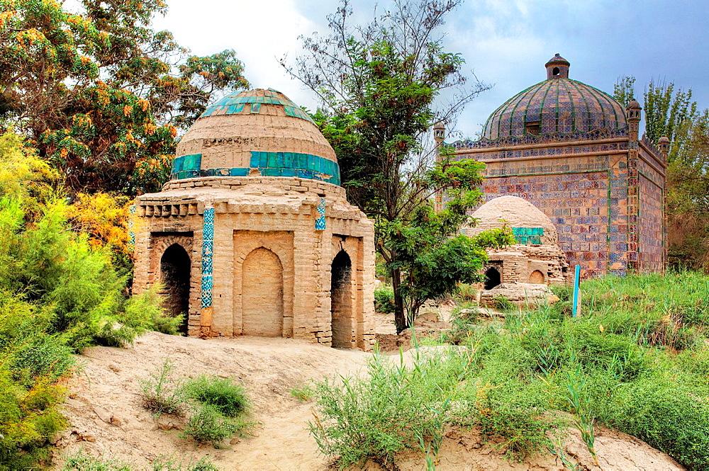 Old cemetery near Altyn mosque, Yarkant, Yarkant County, Xinjiang Uyghur Autonomous Region, China.