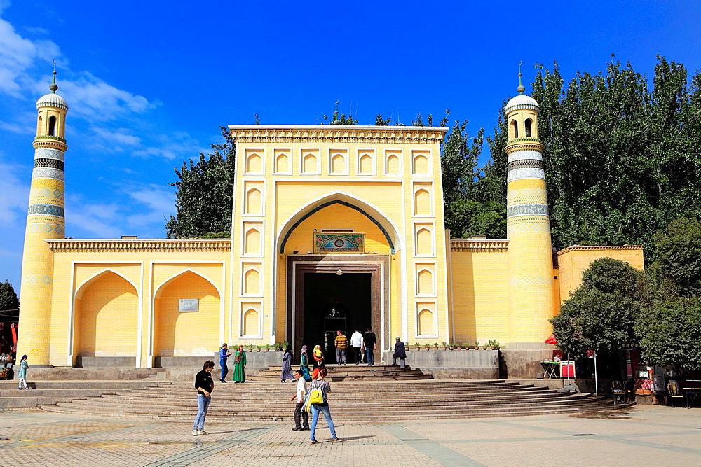 Id Kah Mosque, Kashgar (Kashi), Kashgar Prefecture, Xinjiang Uyghur Autonomous Region, China.