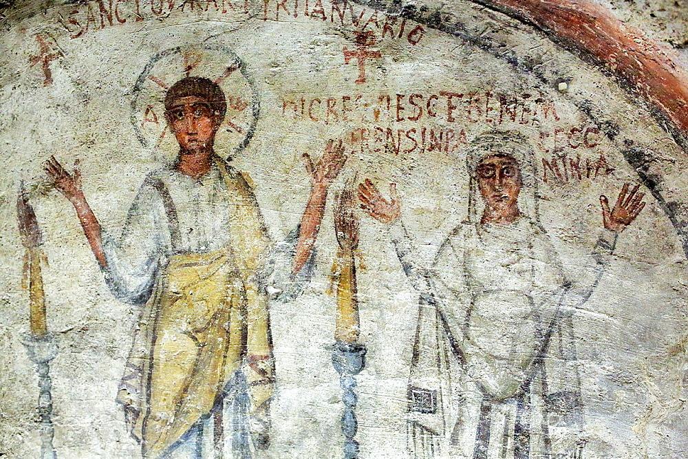 Catacombs of San Gennaro, Naples, Campania, Italy.