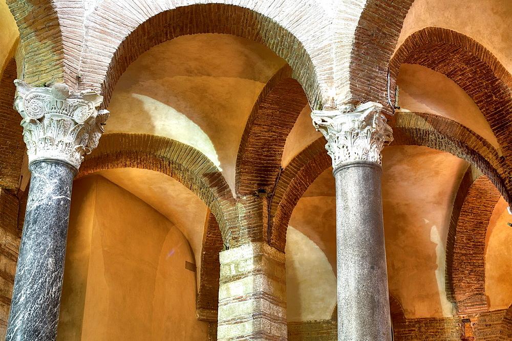 Santa Sofia church (8th century), Benevento, Campania, Italy.