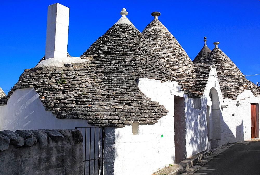 Trulli houses, Alberobello, Apulia, Italy.