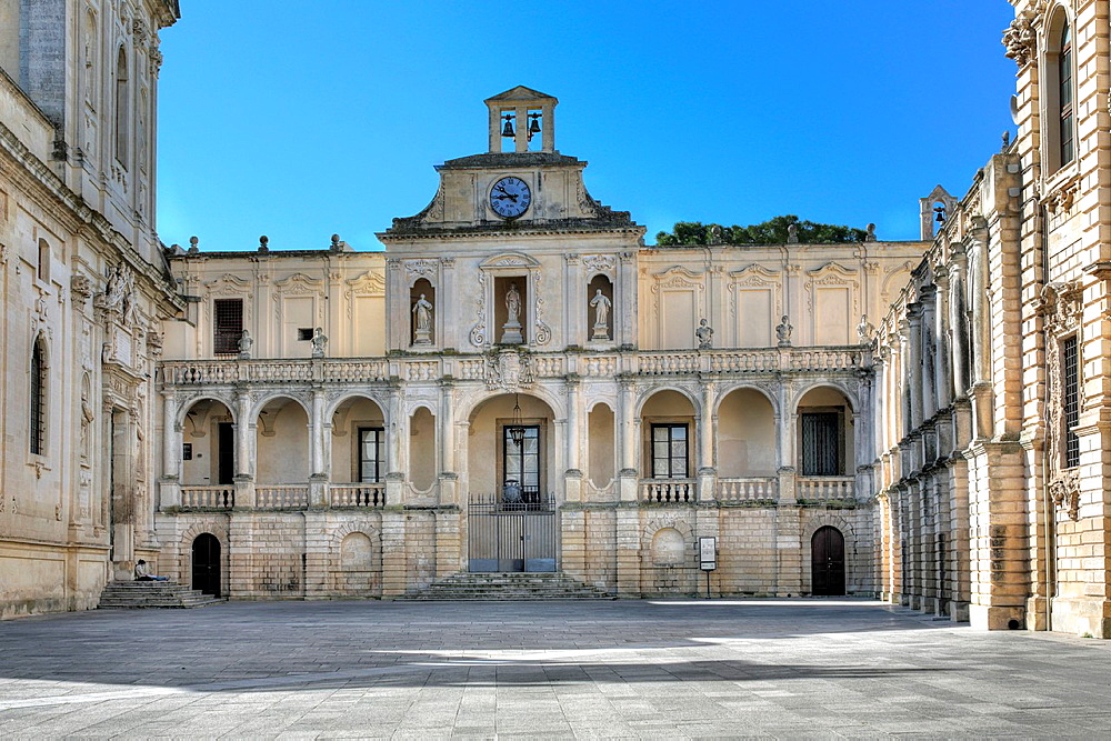 Bishop's palace (1758), Cathedral square, Lecce, Apulia, Italy.