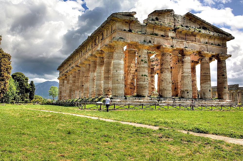 Temple of Poseidon (450 BC), Paestum, Campania, Italy. - 817-467437