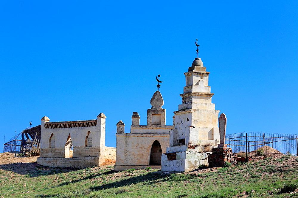 Muslim cemetery, Issyk Kul oblast, Kyrgyzstan.