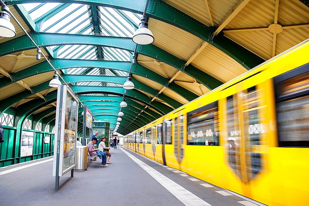 Eberswalder StraBe U-Bahn Subway Station, Berlin, Germany.