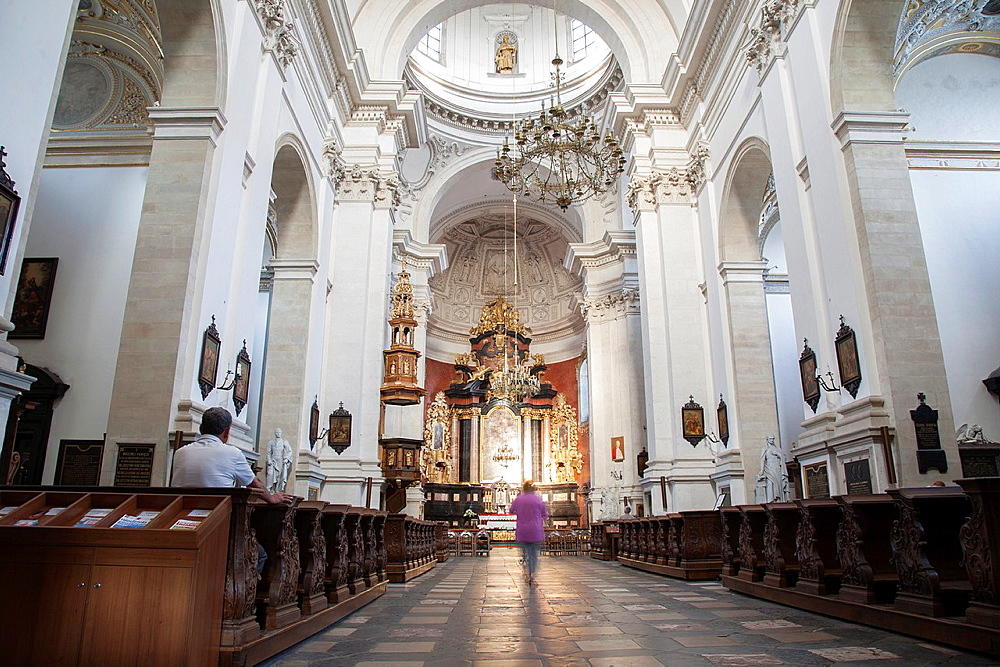 Nave of All Saints - St Peter and Paul Church, Krakow, Poland.