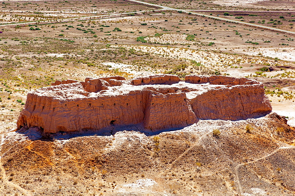 Ayaz Kala Fortress 2, photo taken from Ayaz Kala Fortress 1, Ayaz Kala, Khorezm, Uzbekistan.