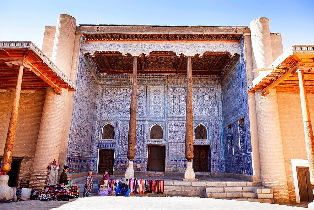 Reception Hall, Kunya Ark, also known as Kohna Ark, Ichan Kala, Khiva, Uzbekistan.