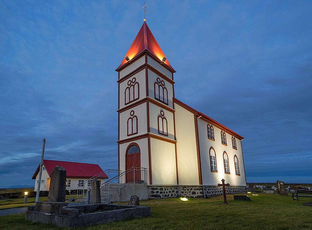 Kalfatjarnarkirkja, Kalfatjarnarvollur, Serdurnes, Iceland. - 817-468426