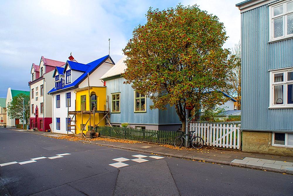 Singular building in Reykjavik city centre, Iceland.