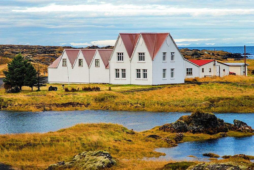 Colorful houses Hafnarfjordur, Iceland.