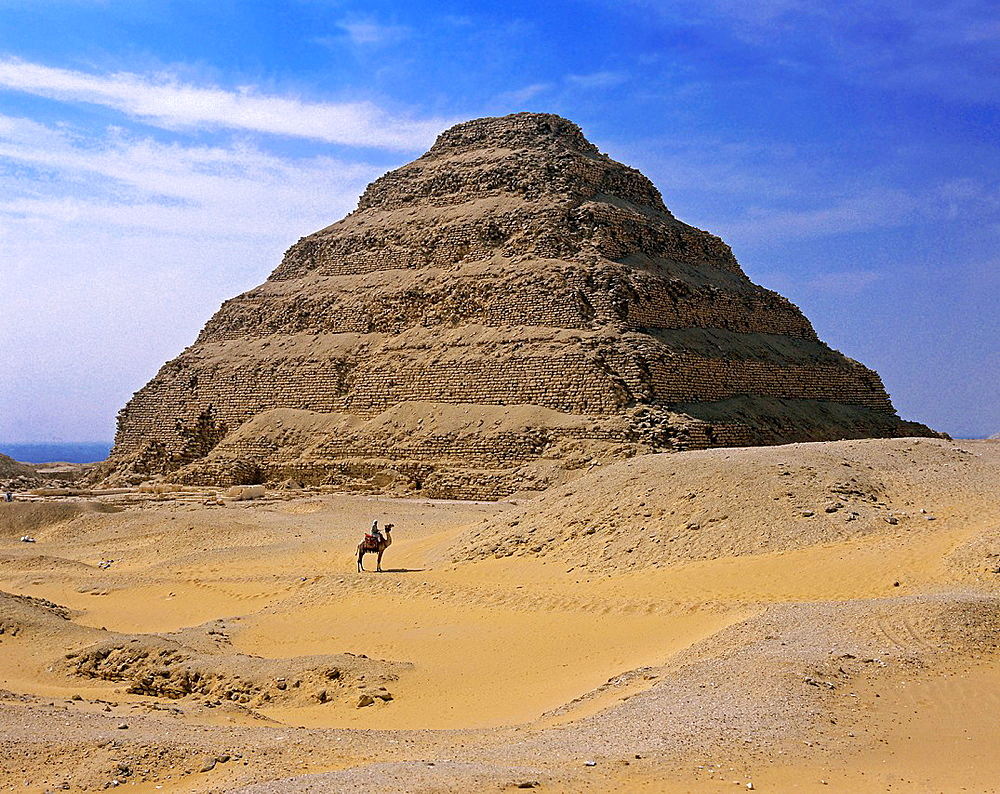 The Step Pyramid of Djoser or Zoser, Saqqara, Egypt,