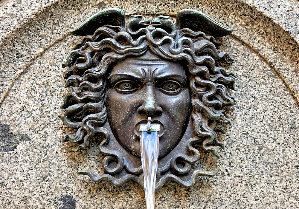 detail of fountain, Geneva, Switzerland.