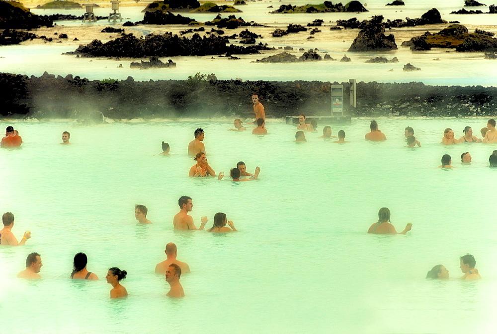 Blue Lagoon - geothermal bath, Iceland.