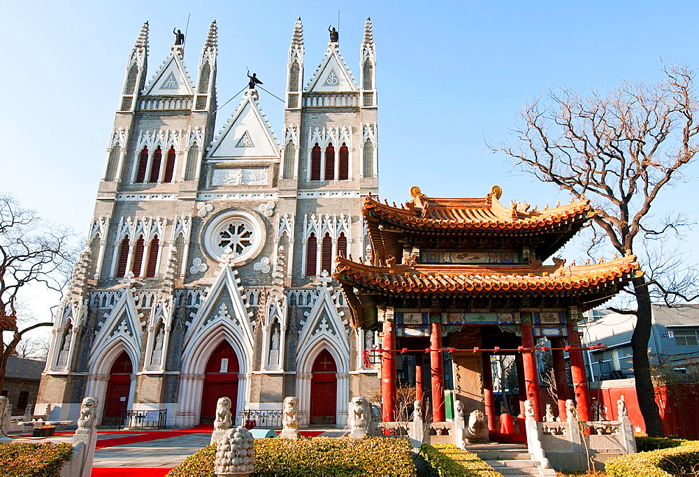 The North Church (Beitang) ñ Xishiku Church also called Church of the Saviour located in Xicheng District, Beijing, China.