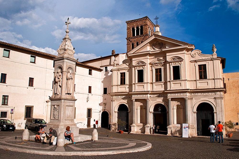 Basilica di San Bartolomeo all'Isola on Tiber Island, Rome, Italy.
