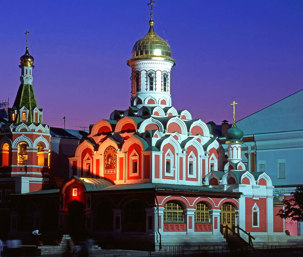Russia, Moscow, Red Square, Kazan Church,