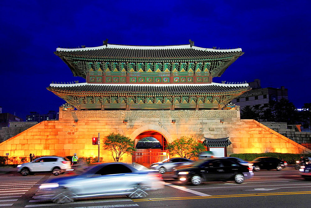 South Korea, Seoul, Heunginjimun, Dongdaemun, Great East Gate,.