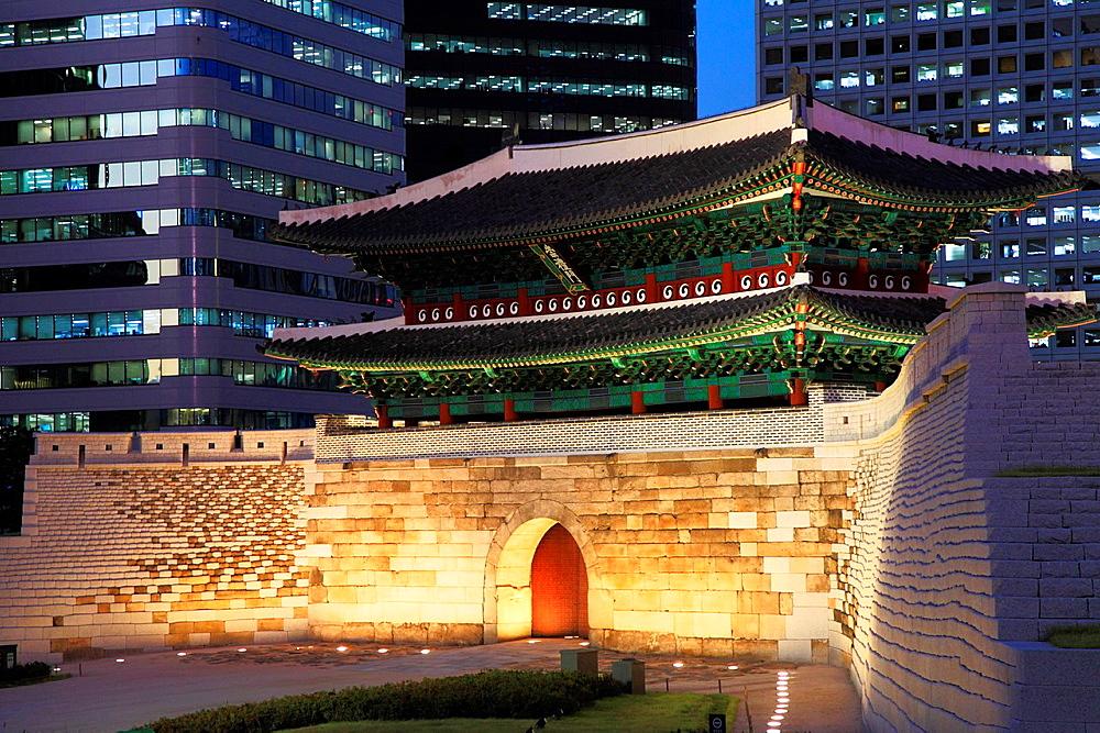 South Korea, Seoul, Sungnyemun, Namdaemun, Great South Gate,.