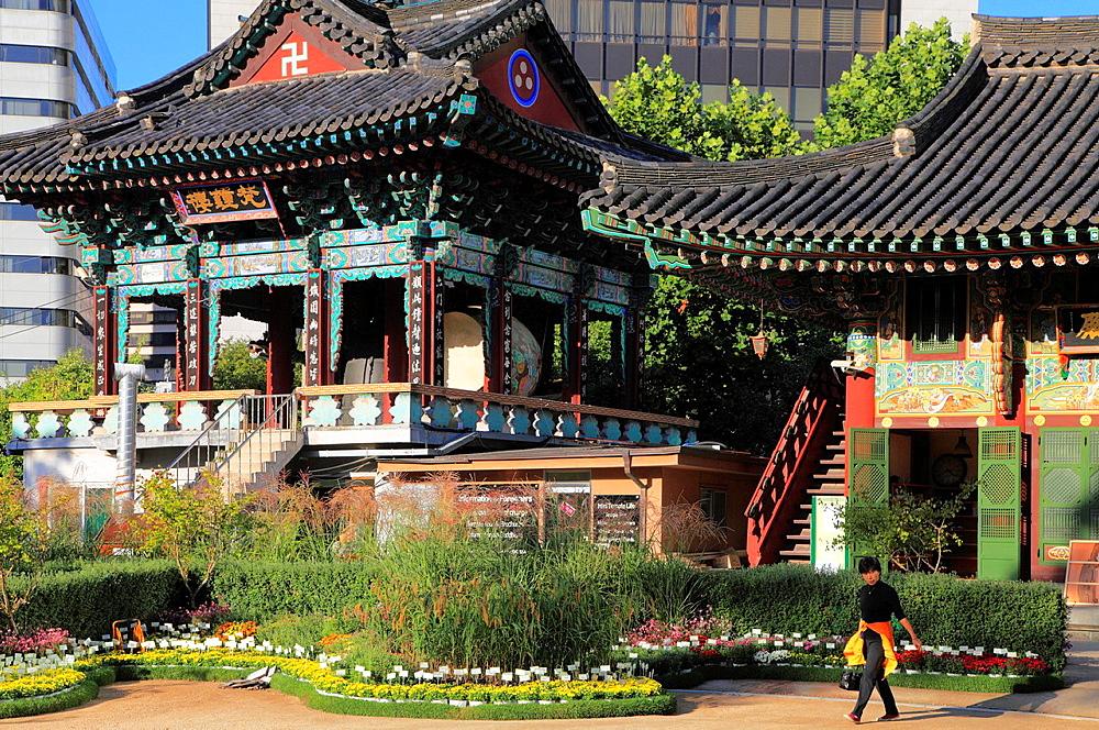 South Korea, Seoul, Jogye-sa, Buddhist temple,.