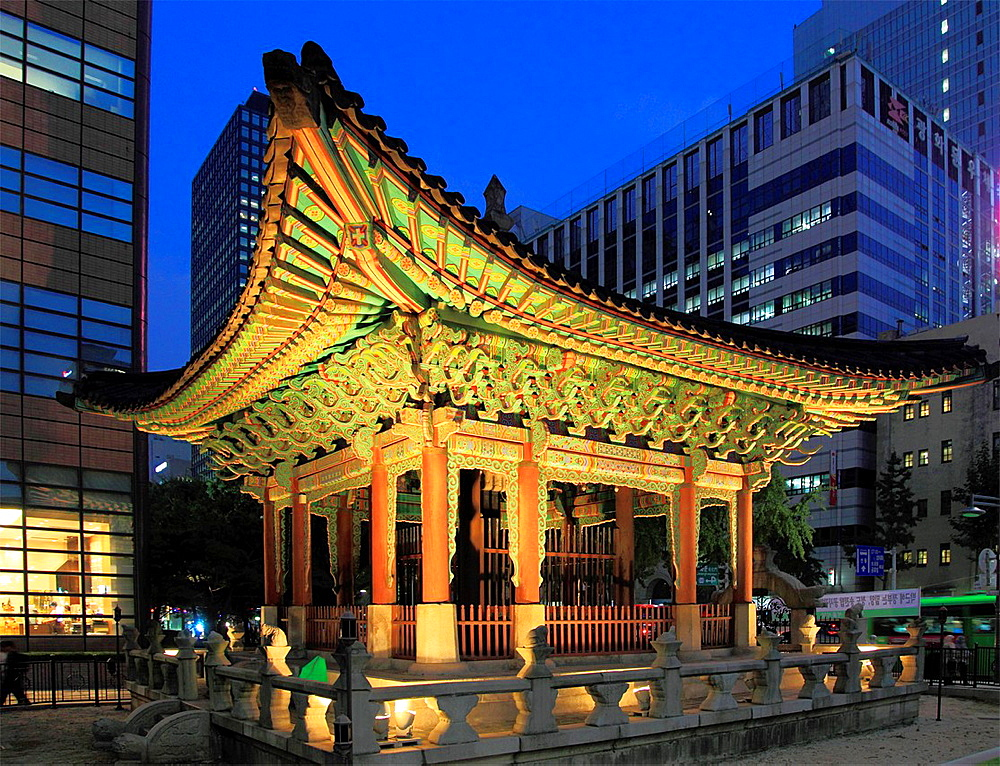 South Korea, Seoul, Anniversary Monument of Gojong's Enthronement,.