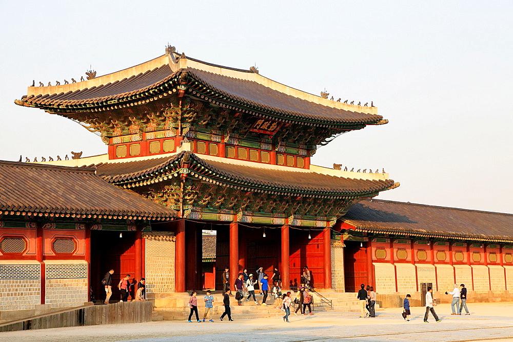 South Korea, Seoul, Gyeongbokgung Palace, Heungnyemun Gate,.