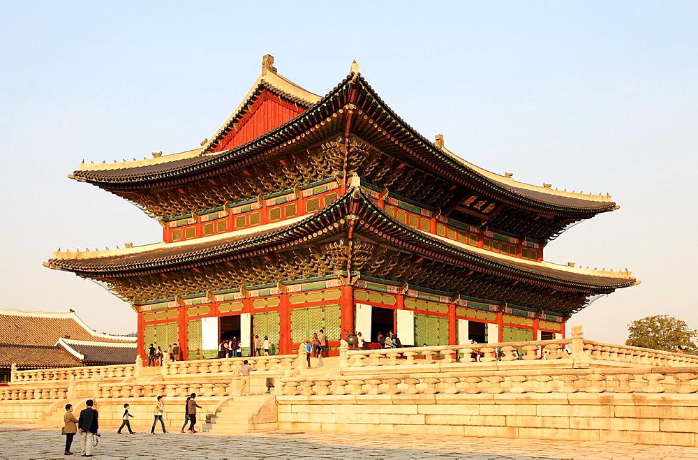 South Korea, Seoul, Gyeongbokgung Palace, Geunjeongjeon Pavilion,.